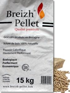 Sac de granulés de bois qualité Premium Breizh Pellet